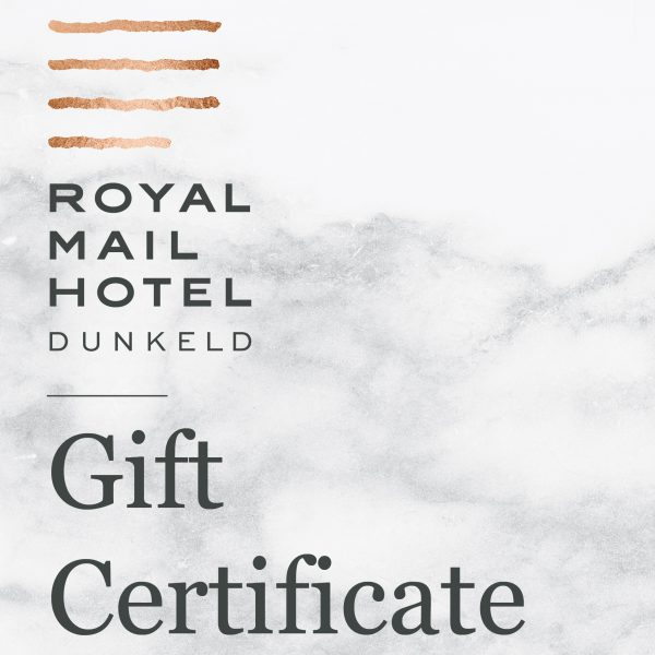 Royal Mail Hotel Gift Certificate